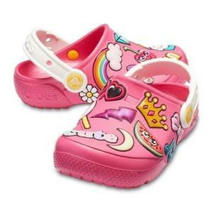 Crocs Kids FunLab Playful Patches Girls Pink Clogs